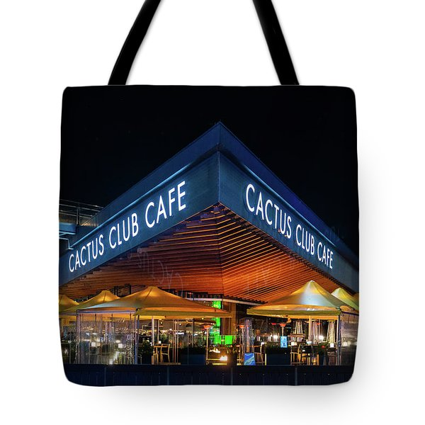 Tote Bag featuring the photograph Cactus Club Cafe by Ross G Strachan