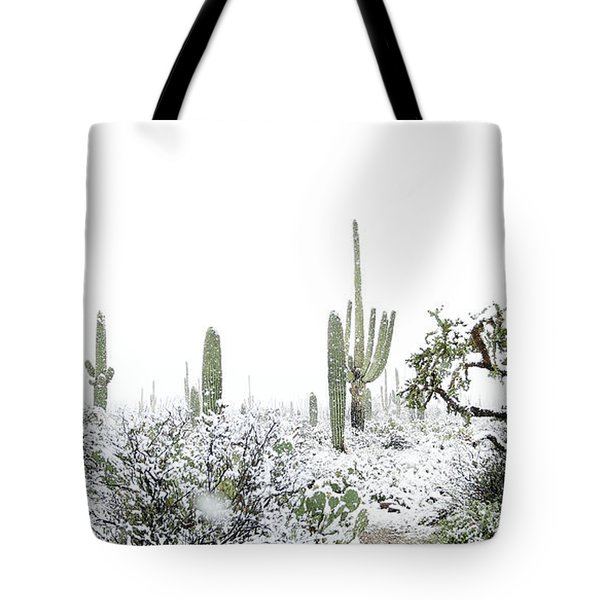 Cactus In The Snow Tote Bag