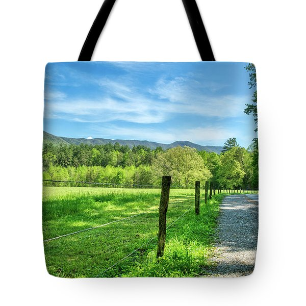 Tote Bag featuring the photograph Cades Cove In Spring by Mel Steinhauer