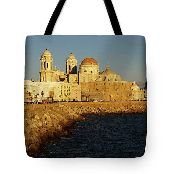 Tote Bag featuring the photograph Cadiz Cathedral From Southern Field Spain by Pablo Avanzini