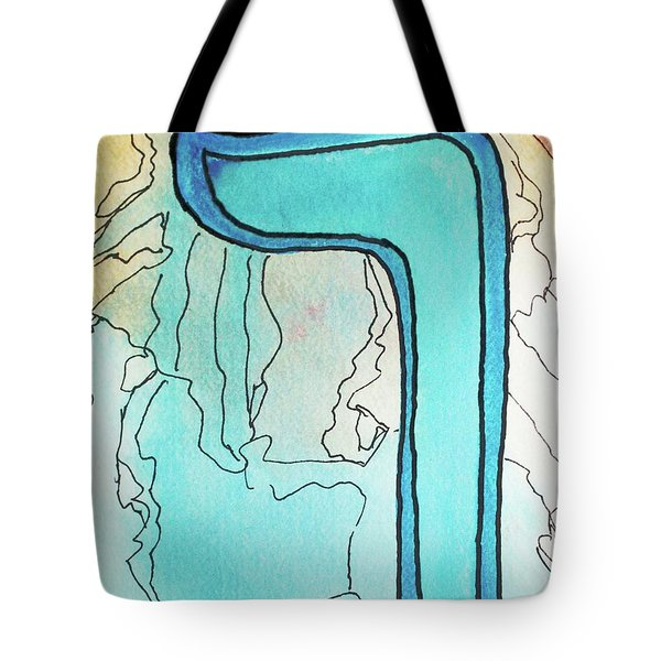 Tote Bag featuring the painting Caf Sofit Ca5 by Hebrewletters Sl