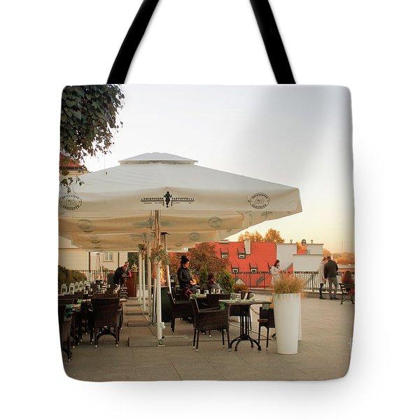 Cafe In Warsaw Tote Bag
