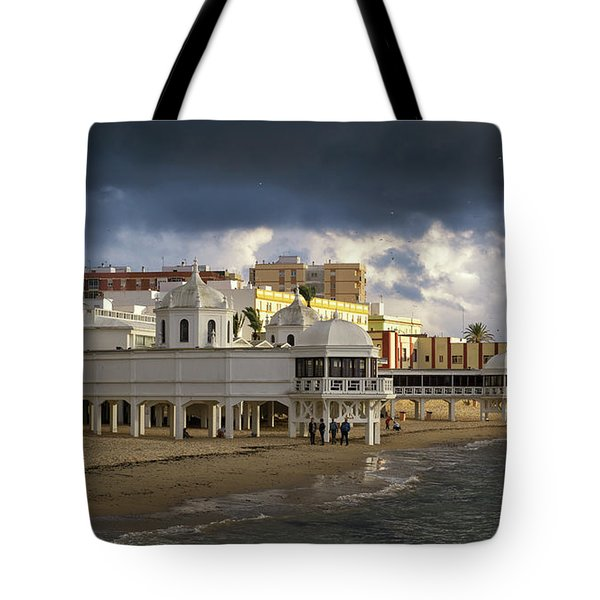 Tote Bag featuring the photograph Caleta Beach Spa Cadiz Spain by Pablo Avanzini