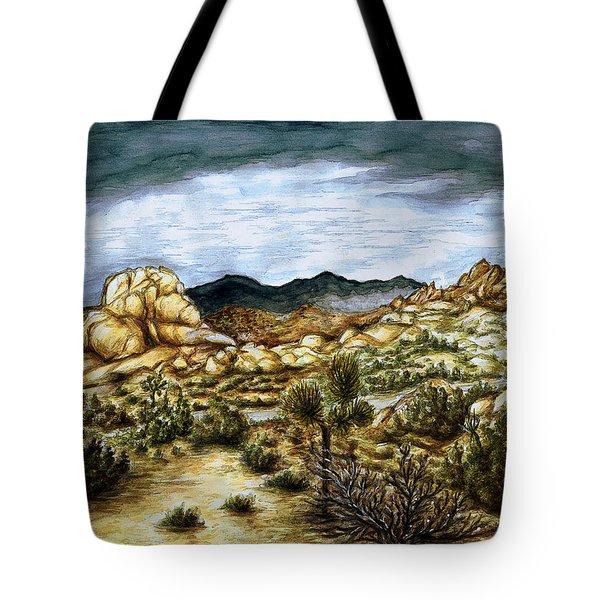 California Desert Landscape - Watercolor Art Painting Tote Bag