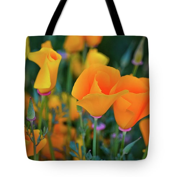 Tote Bag featuring the photograph California Poppies Lake Elsinore by Kyle Hanson
