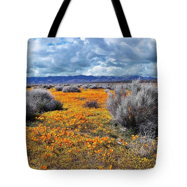 California Poppy Patch Tote Bag