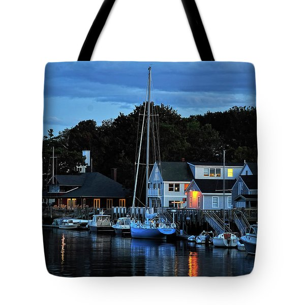 Camden Maine Twightlight Tote Bag