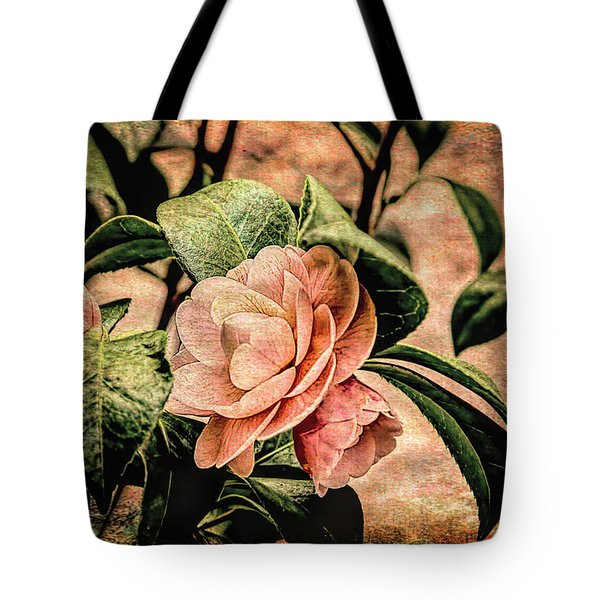 Camellia Grunge Tote Bag