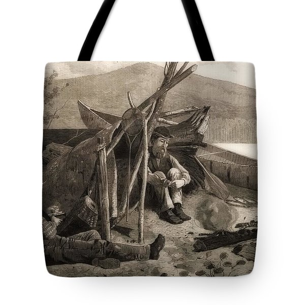 Camping Out In The Adriondack Mountains Tote Bag