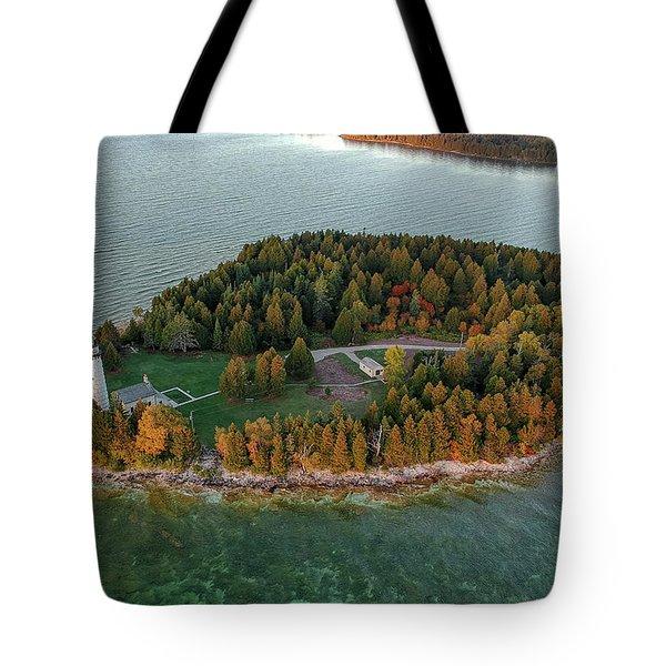 Cana Island Aerial Tote Bag