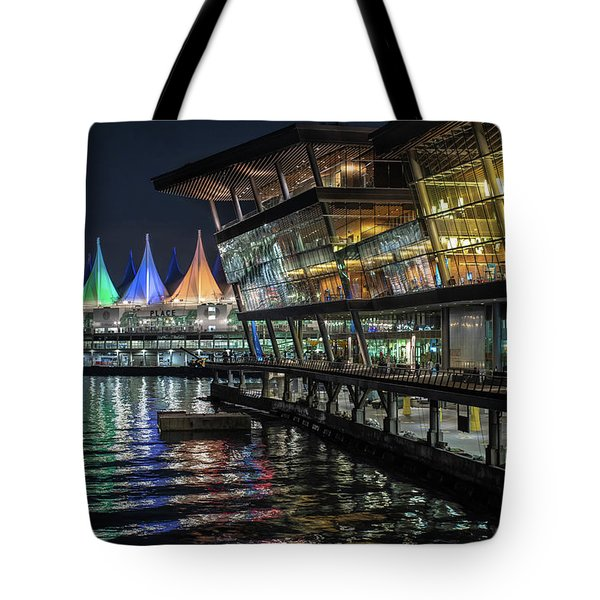 Tote Bag featuring the photograph Canada Place And The Convention Centre by Ross G Strachan