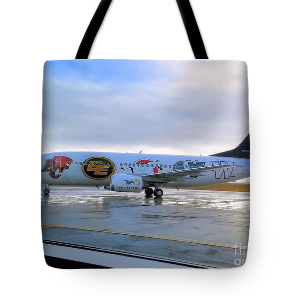 Canadian Football League Official  Plane   Tote Bag