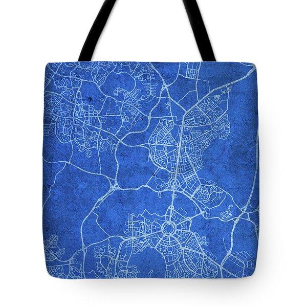 Canberra Australia City Street Map Blueprints Tote Bag
