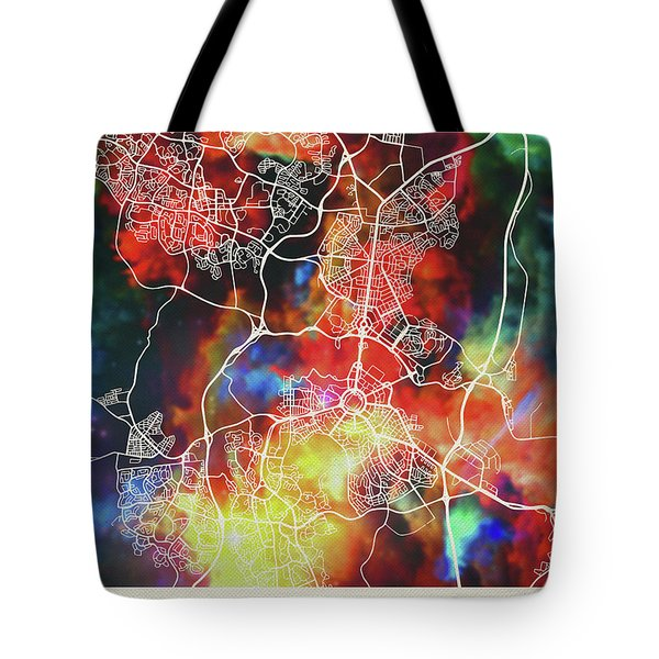Canberra Australia Watercolor City Street Map Tote Bag