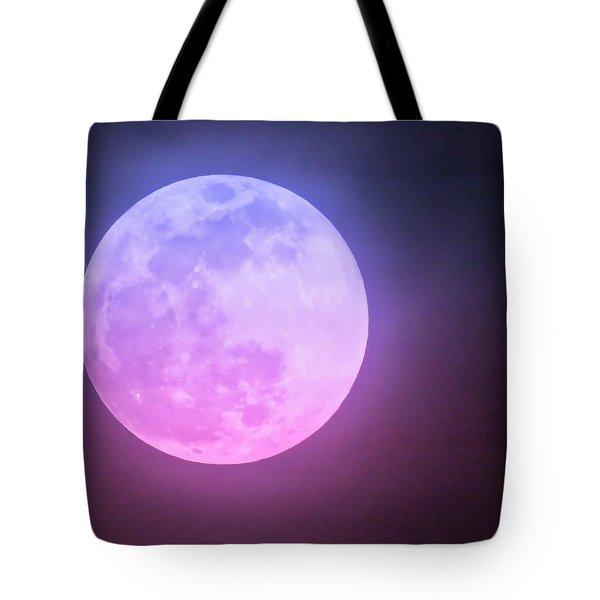 Cancer Super Wolf Blood Moon Near Eclipse Tote Bag