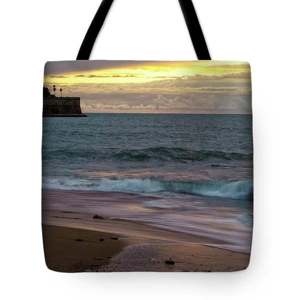 Tote Bag featuring the photograph Candelaria Bulwark From Saint Philippe Cadiz Spain by Pablo Avanzini