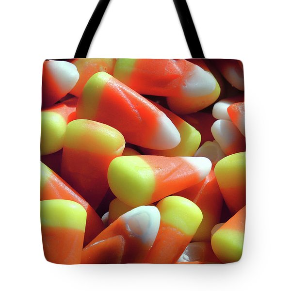 Tote Bag featuring the photograph Candy Corn For Halloween by Bill Swartwout Fine Art Photography