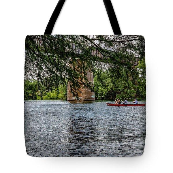 Canoeing Lady Bird Lake Tote Bag