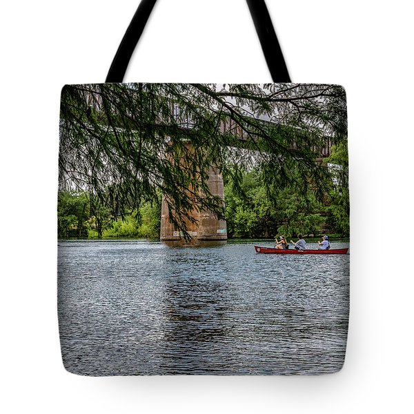 Canoeing Lady Bird Lake Tote Bag