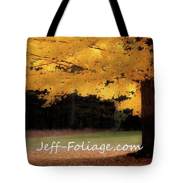 Canopy Of Gold Fall Colors Tote Bag
