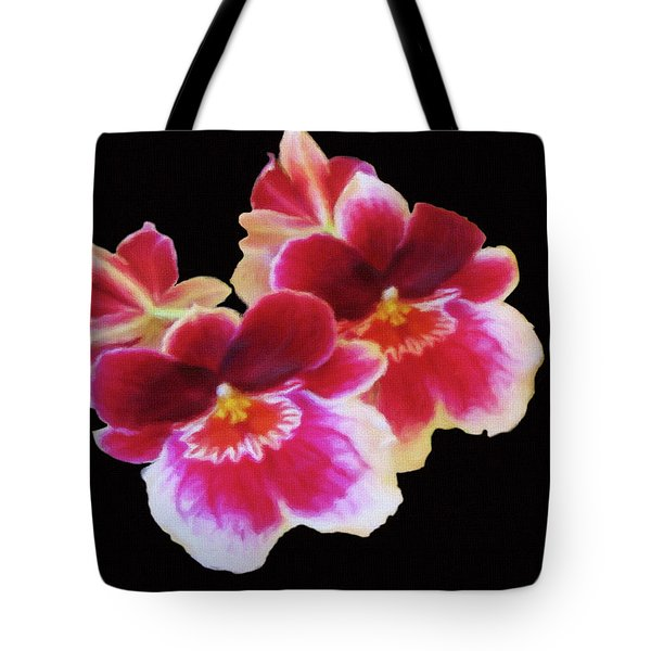 Canvas Violets Tote Bag