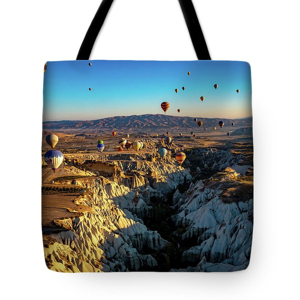 Tote Bag featuring the photograph Capadoccia by Francisco Gomez