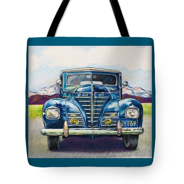 Tote Bag featuring the drawing Car 1 by Camille Rendal