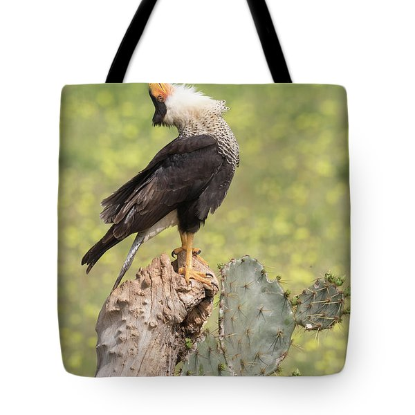 Caracara Head Throw Tote Bag