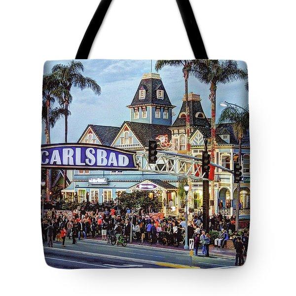 Carlsbad Village Sign Tote Bag