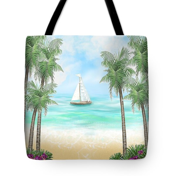 Carribean Bay Tote Bag