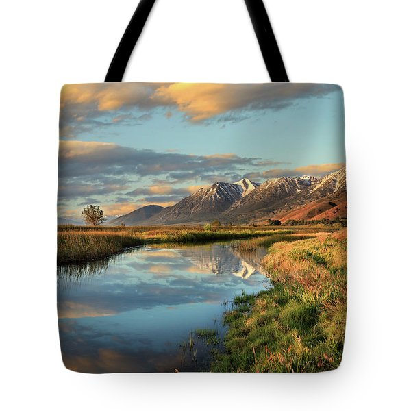 Carson Valley Sunrise Tote Bag