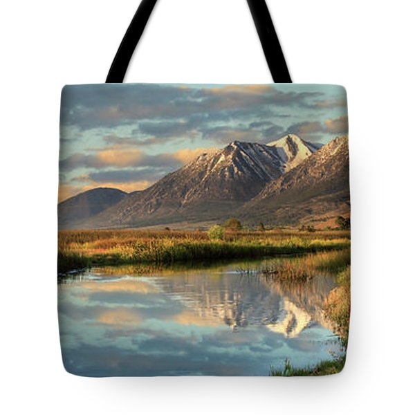 Carson Valley Sunrise Panorama Tote Bag
