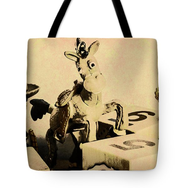 Cartoon Character Cowboys And Cowgirls Tote Bag
