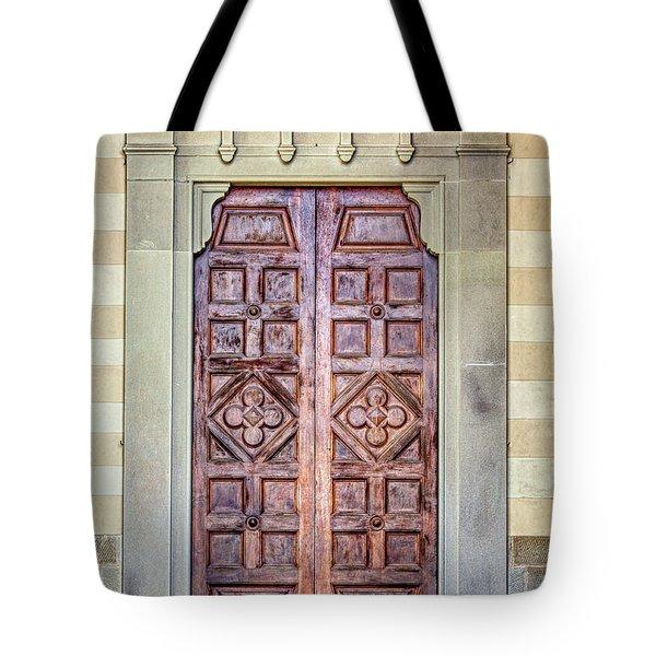 Carved Door Of Cortona Tote Bag