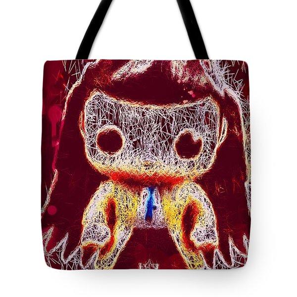 Tote Bag featuring the mixed media Castiel Supernatural Pop by Al Matra