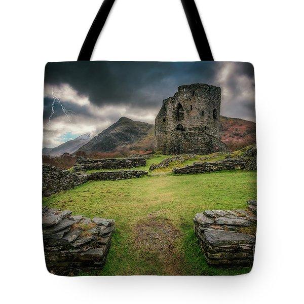 Castle  Dolbadarn Snowdonia Tote Bag