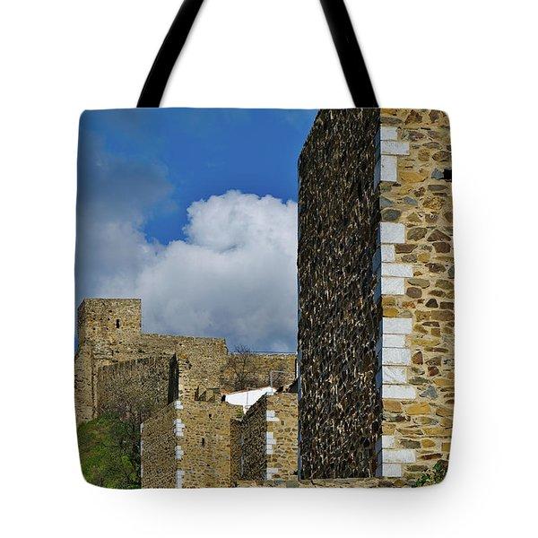Castle Wall In Alentejo Portugal Tote Bag