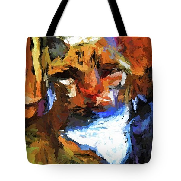 Cat Behind Cat In The Kitchen Tote Bag