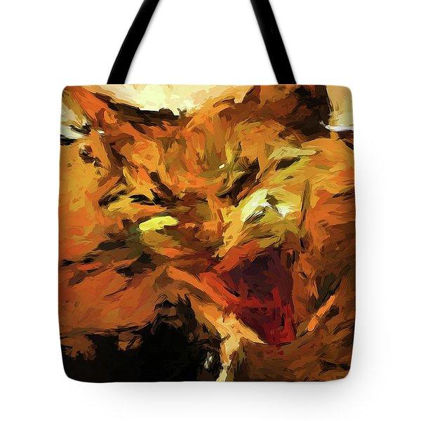 Cat Cathartic Scream Tote Bag