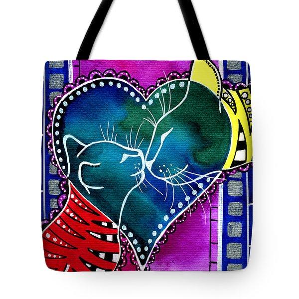 Cat Mom Love Tote Bag