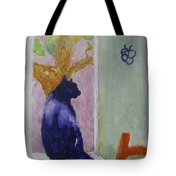 cat named Seamus Tote Bag