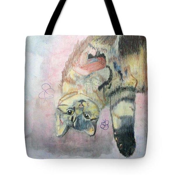 Playful Cat Named Simba Tote Bag