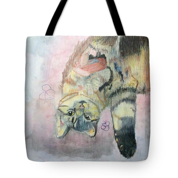 Playful Cat Named Simba Tote Bag