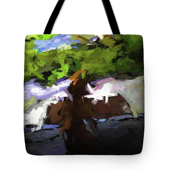Cat On The Porch Tote Bag