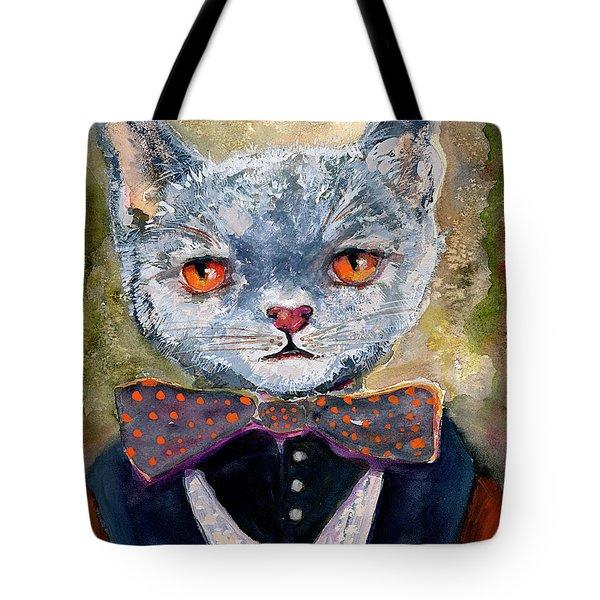 Cat Portrait Einstein Tote Bag