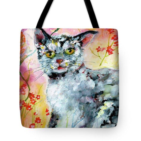 Cat Portrait My Name Is Hobo Tote Bag