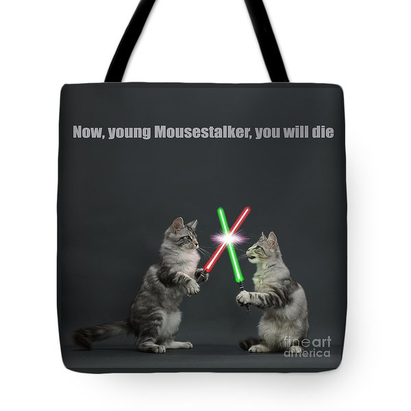 Tote Bag featuring the photograph Cat Wars by Warren Photographic