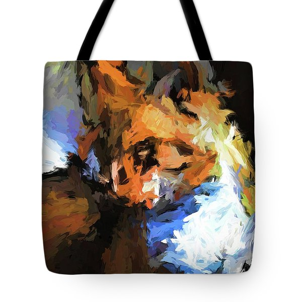 Cat With The Turned Head Tote Bag
