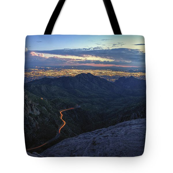 Catalina Highway And Tucson Tote Bag