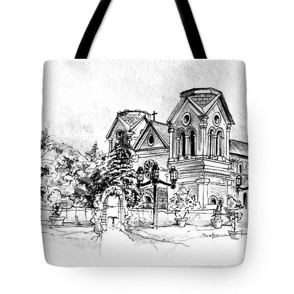 Cathedral Basilica Of St. Francis Of Assisi - Santa Fe, New Mexico Tote Bag